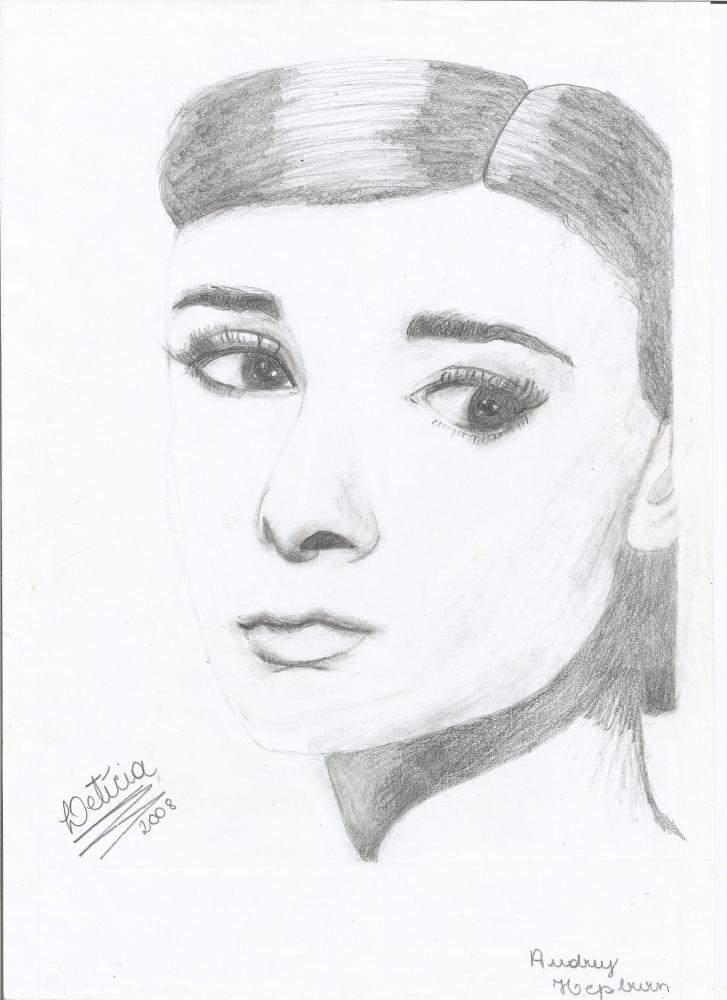 Audrey Hepburn por LETICIA